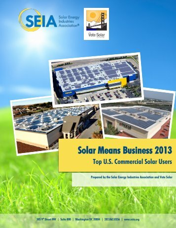 Solar Means Business 2013 - Alta Energy