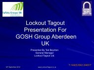 Lockout Tagout Safety Ltd - Grampian Occupational Health and ...