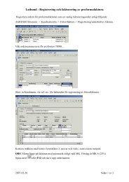 Lathund - Registrering och fakturering av proformafaktura