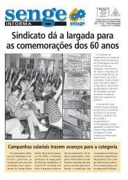 Sindicato dá a largada para as comemorações dos 60 ... - Senge-MG