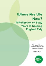 Where are we now? A reflection on sixty years of ... - Keep Britain Tidy