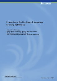 Evaluation of the Key Stage 2 Language Learning Pathfinders