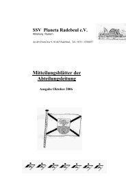 Mitteilungsblätter der Abteilungsleitung - SSV Planeta Radebeul e.V.