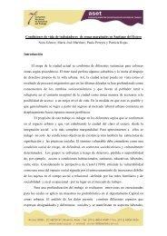 Condiciones de vida de trabajadores de zonas marginales ... - ASET