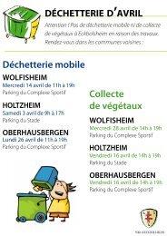 Déchetterie mobile Collecte de végétaux