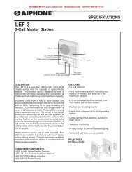 AIPHONE LEF-3 3-Call Master Intercom Station from LEE DAN