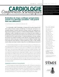 Évaluation du risque cardiaque préopératoire associé à la chirurgie ...