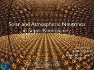 SuperK III solar, atmospheric