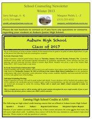 Winter 2012 - Auburn Junior High School - cnyric