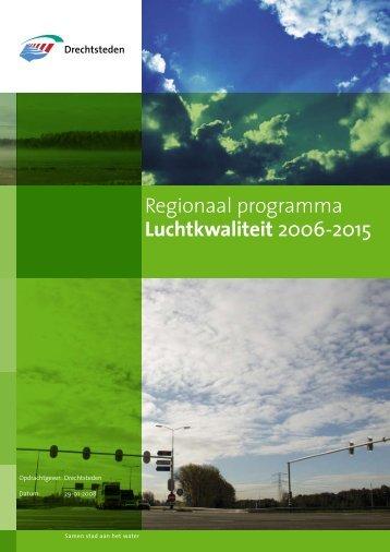 Regionaal programma Luchtkwaliteit 2006-2015 - De Drechtsteden