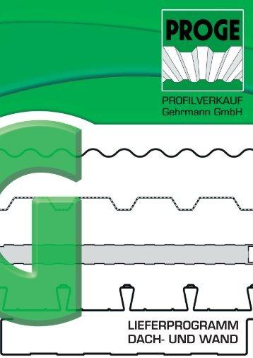 lieferprogramm dach- und wand - Profilverkauf Gehrmann GmbH