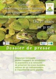 Dossier de presse - Agence de l'eau Rhône Méditerranée Corse