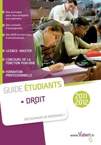 Guide de l'étudiant 2011-2012 - Droit - Vuibert
