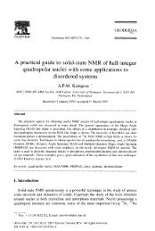 practical guide to solid-state NMR of half-integer quadrupolar nuclei ...