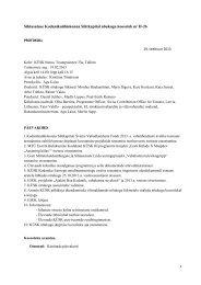 Nõukogu koosoleku protokoll nr-II-26, 19. veeb. 2013 - KÜSK