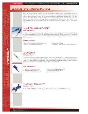 Catalog Page - Backplane Ferrule / Bulkhead Cleaning - Fiber Optic ...