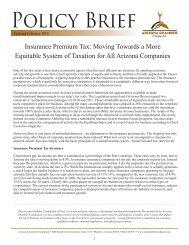 Insurance Premium Tax - Arizona Chamber of Commerce