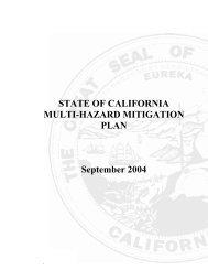 STATE OF CALIFORNIA MULTI-HAZARD MITIGATION PLAN ...