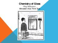 Introduction to Glass - Worcester Think Tank