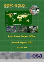 Land Cover Project Office Annual Report 2007 - GOFC-GOLD LC-IT ...