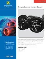 Temperature and Pressure Gauges - AVOX Systems, Inc.