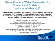 Use of Ozone in Water Reclamation for Contaminant Oxidation