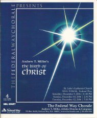 The Birth of Christ - Soloists - Federal Way Chorale