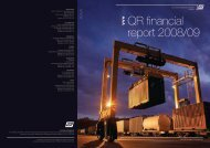 QR financial report 2008/09 - Queensland Rail