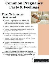 Pregnancy Fact Sheets (pdf)