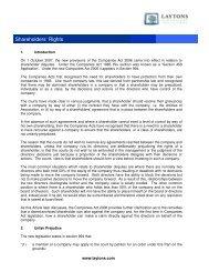 Shareholders' Rights - Shareholder's Rights