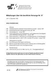 Mitteilungen über die berufliche Vorsorge Nr. 37 - Bundesamt für ...