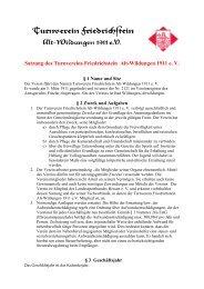Satzung des Turnvereins Friedrichstein Alt-Wildungen 1911  e. V.