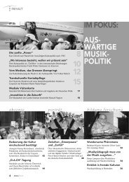 IM FOKUS: AUS- WÄRTIGE MUSIK- POLITIK 8 10 12 15 - Schott Music