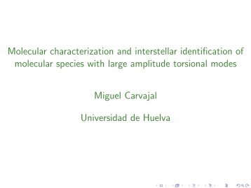 Molecular characterization and interstellar identification of molecular ...