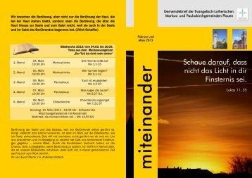 Gemeindebrief Februar-März 2013.pdf - Markuskirchgemeinde Plauen