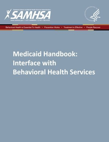 Medicaid Handbook - SAMHSA Store - Substance Abuse and ...