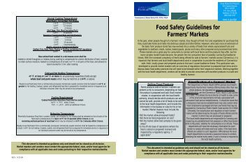 Food Safety Guidelines for Farmers' Markets - CT.gov