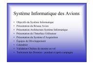Système Informatique des Avions