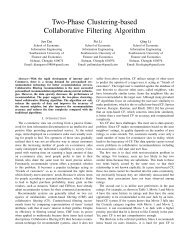 Two-Phase Clustering-based Collaborative Filtering Algorithm