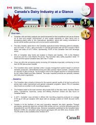 Canada's Dairy Industry at a Glance