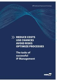 REDUCE COSTS USE CHANCES AVOID RISKS ... - IPwebS