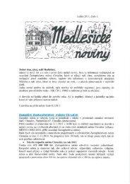 Medlešické noviny leden 2011 číslo 1. - M klub Medlešice