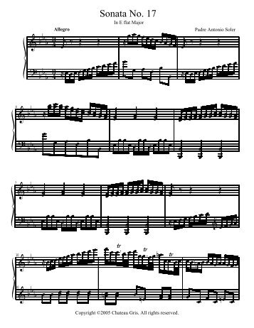 Sonata No. 17 in E flat major - Chateau Gris Home Page