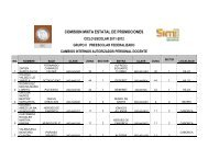 personal docente cambios internos autorizados preescolar federal ...