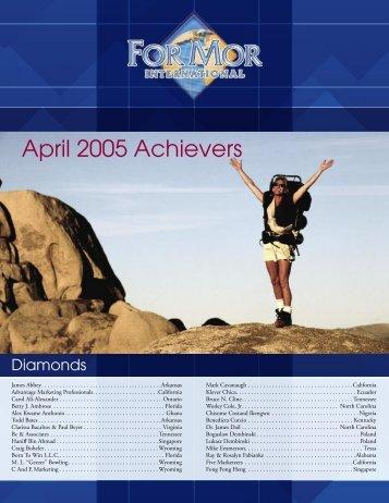 April 2005 Achievers