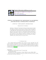 {Strong convergence of Monotone CQ algorithm for relatively ...