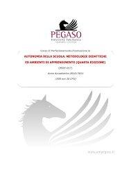 autonomia della scuola: metodologie didattiche ed ambienti di ...