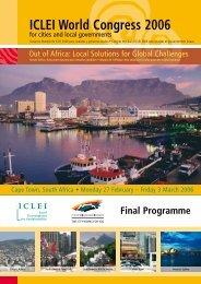 Final Programme - ICLEI World Congress 2006