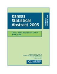 Kansas Statistical Abstract, 40th Edition - Institute for Policy & Social ...