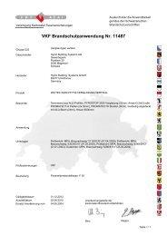 VKF Brandschutzanwendung Nr. 11487 - Wicona.ch